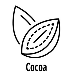 cocoa nut icon outline style vector image
