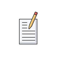 creative writing rgb color icon vector image