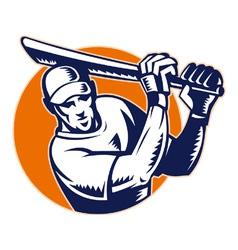 cricket icon vector image