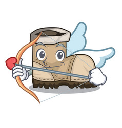 Cupid working boots isolated on the mascot vector