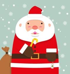 cute fat big Santa Claus vector image