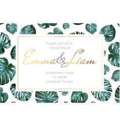 exotic tropical jungle rainforest wedding vector image