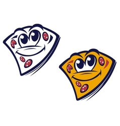 Funny slice of pizza vector image