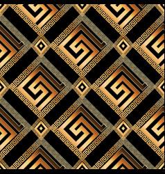 Geometric modern greek key 3d seamless pattern vector