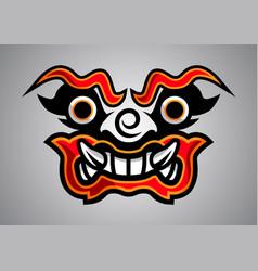 Giant-thai-yark-face-linethai-emblem-logo-2019-02 vector