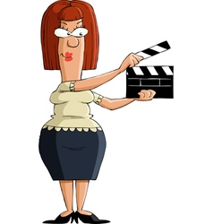 girl with a clapboard vector image