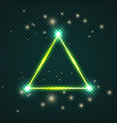 glowing effect triangle stroke with isolated vector image