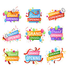 grand opening festive event ceremony opening vector image