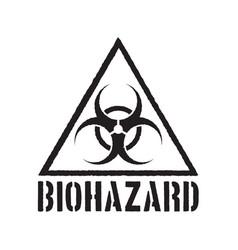 Grunge biohazard symbol vector