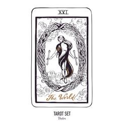 Hand drawn tarot card deck major arcana vector