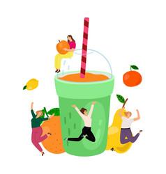 healthy smoothie drink vector image
