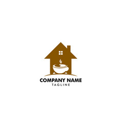 house coffee logo template design vector image