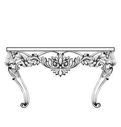 Imperial Baroque chest table French Luxury vector image