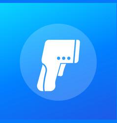 Infrared thermometer gun icon vector