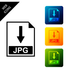 Jpg file document icon download jpg button icon vector