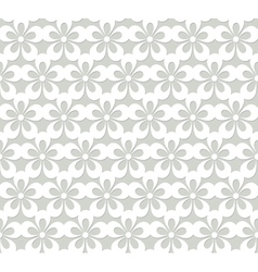 lacy seamless pattern with flowers vector image