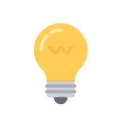 Lightbulb flat icon vector