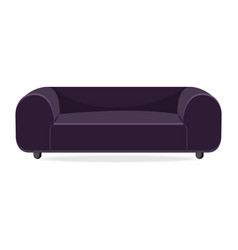 luxury couch isolated comfortable couch seat vector image