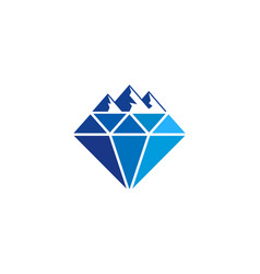 mountain diamond logo icon design vector image
