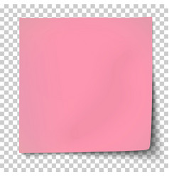 office pink paper sticker with bent corner vector image