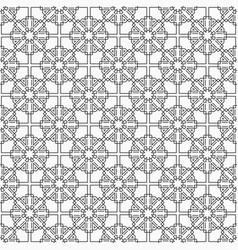 Oriental seamless pattern linear style islamic vector