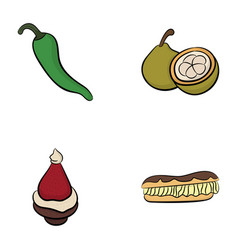 Pack of best food icons vector