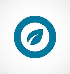 Plant bold blue border circle icon vector