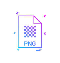 Png file file extension file format icon design vector