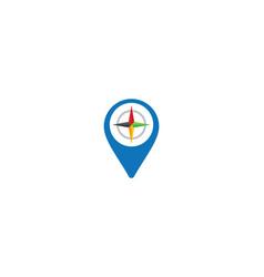 pointer logo template icon vector image