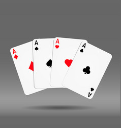 poker hand of cards diamond spade heart vector image