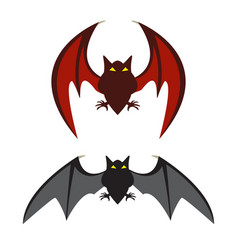 red bat and black bat vector image