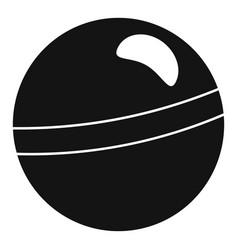 rhythmic gymnastics ball icon simple style vector image
