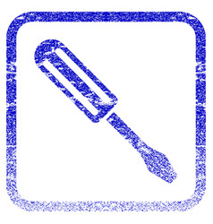 Screwdriver framed textured icon vector