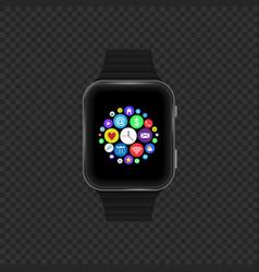 sensor smart watch vector image