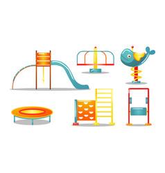 set different kid s playground equipment vector image
