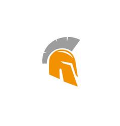 spartan helmet for warrior protection for logo vector image