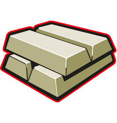 stack gold bars icon vector image