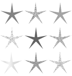 Star Set Grunge vector image