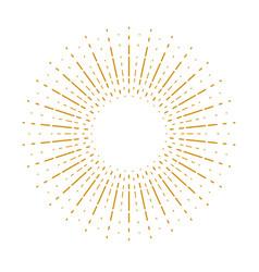 Starburst sunburst linear design element for logo vector
