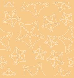 starfish seamless pattern summer sea life theme vector image
