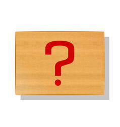 start poll plate design element red question mark vector image