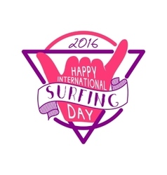 Summer surfing day tattoo design Vacation vector image