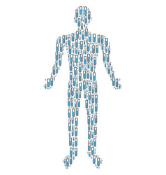 Test tube person figure vector