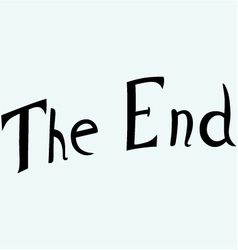 The End symbol vector image