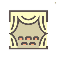 theater and curtain icon design 48x48 pixel vector image