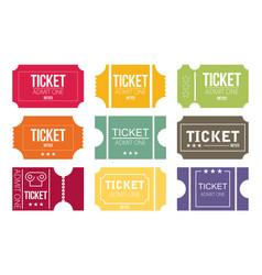 Tickets icon flat design vector