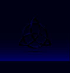 triquetra logo trinity knot wiccan symbol vector image