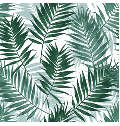 tropical jungle seamless pattern with palm leaves vector image