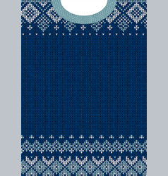 Ugly sweater merry christmas happy new year vector