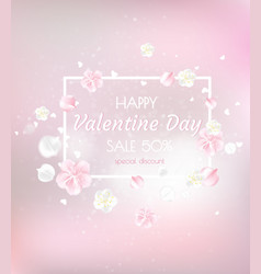 Valentine s day sale poster beautiful backdrop vector
